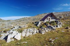 Cabin for hikers. In Pirin mountains, Bulgaria Stock Image