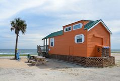Cabin home on Florida beach Stock Photo