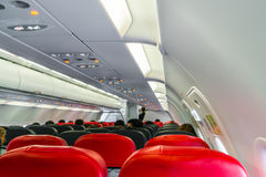Cabin inside aircraft . Stock Image
