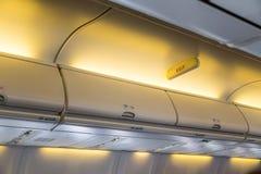 Cabin inside aircraft Royalty Free Stock Photos
