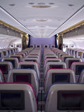 Cabin interior IFE Royalty Free Stock Photo