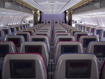 Cabin interior inflight entertainment Stock Photos