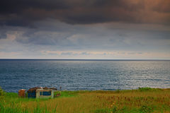 Cabin Isolated in Silent Seacoast royalty free stock images