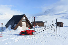 Cabin on Kungsleden Stock Images