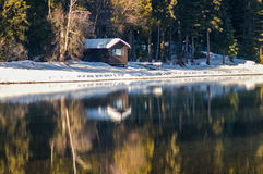 Cabin by the lake Royalty Free Stock Photo