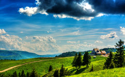 Mountain Cabin Landscape Royalty Free Stock Photo