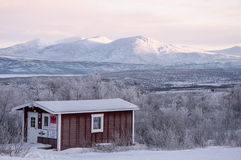Cabin in Lapland Royalty Free Stock Photography