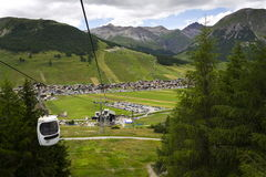 Free Cabin Lift In Mountain Bikepark Mottolino On 3 August 2016 In Livigno, Italy. Stock Photography - 81266392