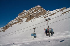 Cabin lift at Madonna di Campiglio Stock Photo