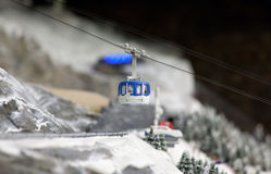 Cabin lift at ski resort Royalty Free Stock Image