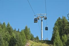 Cabin lifts in the Alps Stock Photography