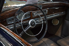 Cabin of luxury car Mercedes-Benz 300S Cabriolet A (W188), 1952. Royalty Free Stock Images
