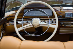 Cabin of the luxury car Mercedes-Benz 220S (W180 II) Royalty Free Stock Photo