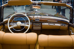 Cabin of the luxury car Mercedes-Benz 220S (W180 II) Stock Photography