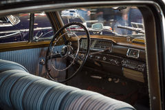 Cabin of luxury car Mercedes-Benz 220S (W188), 1956. Royalty Free Stock Photos