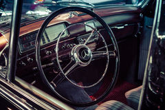 Cabin of luxury car Mercedes-Benz 220S W188, 1956. Stock Photography