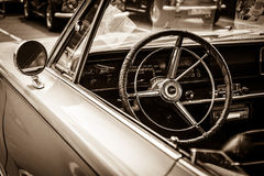 Cabin of the mid-size car Plymouth Satelitte Royalty Free Stock Photos