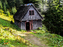 Cabin on mountain Royalty Free Stock Image