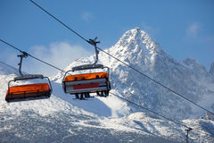 Cabin mountain lift Stock Images