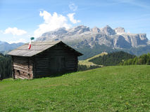 A cabin in the mountains Royalty Free Stock Photos