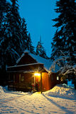 Cabin in Mountains Stock Photo