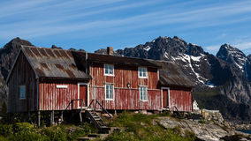 Cabin in the mountains of Norway Royalty Free Stock Photo