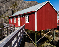 Cabin in the mountains in Norway Royalty Free Stock Photo
