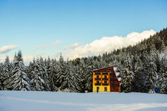 Cabin in the mountains Royalty Free Stock Photo