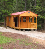 Cabin. Nestled in the woods Royalty Free Stock Photography