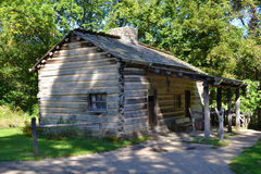 A cabin at New Salem, Illinois. A pioneer cabin at Abraham Lincoln's New Salem State Historical site in Illinois Royalty Free Stock Image