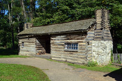 A cabin at New Salem, Illinois. A pioneer cabin at Abraham Lincoln's New Salem State Historical site in Illinois Royalty Free Stock Photography