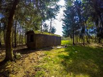 Cabin. Nijreesbos Almelo Twente Netherlands royalty free stock photos