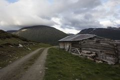 A cabin in Norwegian National park Stock Photos