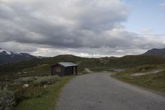 A cabin in Norwegian National park Stock Images