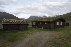 A cabin in Norwegian National park Royalty Free Stock Images