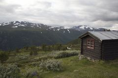 A cabin in Norwegian National park Stock Image