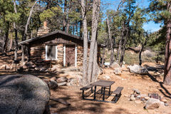 Cabin Number One, Hualapai Mountain Park Royalty Free Stock Photos