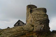 Cabin on Omu peak in Bucegi Mountains Stock Image