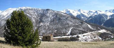 Cabin In The Pennine Alps Stock Photography