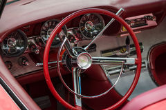 Cabin of a personal luxury car Ford Thunderbird Royalty Free Stock Images
