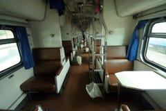 Cabin photo of  passenger train. At chiangmai train station Stock Photo