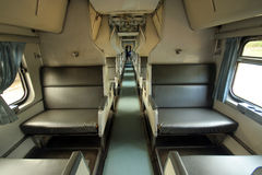 Cabin photo of  passenger train Royalty Free Stock Image