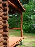 Cabin Porch. The porch on a log cabin Stock Photos