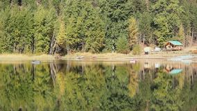 Cabin Reflections, Autumn stock video footage