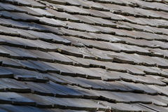 Cabin roof slats Stock Images
