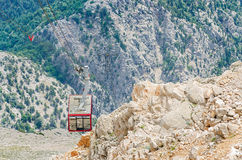 Cabin of Ropeway to Mount Tahtali Royalty Free Stock Images
