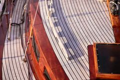 Cabin of a sailing boat Royalty Free Stock Images