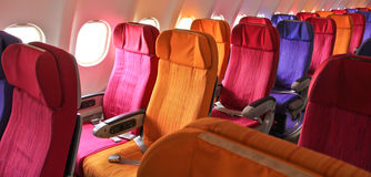 Cabin seats. On the airplane Stock Image