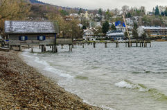 Cabin on the shore of Starnberger See in Munich Stock Image