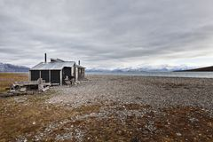Cabin in Skansbukta, Svalbard Stock Photos